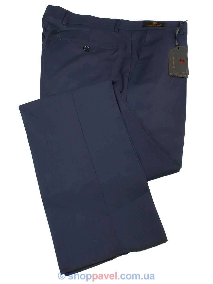 Завужені чоловічі класичні брюки Monzeratti Slim в темно-синьому кольорі