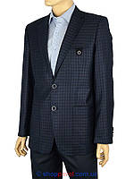 Пиджак мужской Giordano Conti  темно-синий в клетку 177