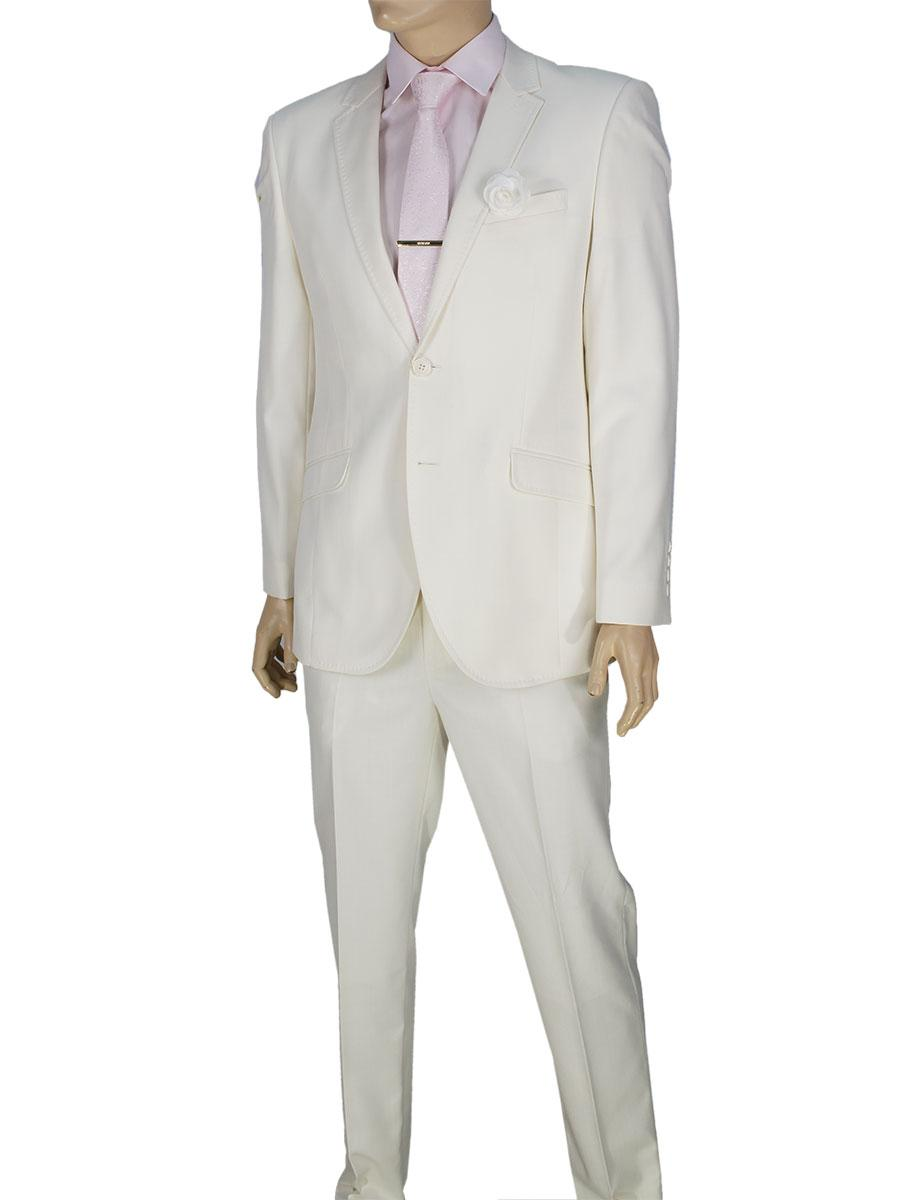 Классический костюм Giordano Conti 179 в белом цвете