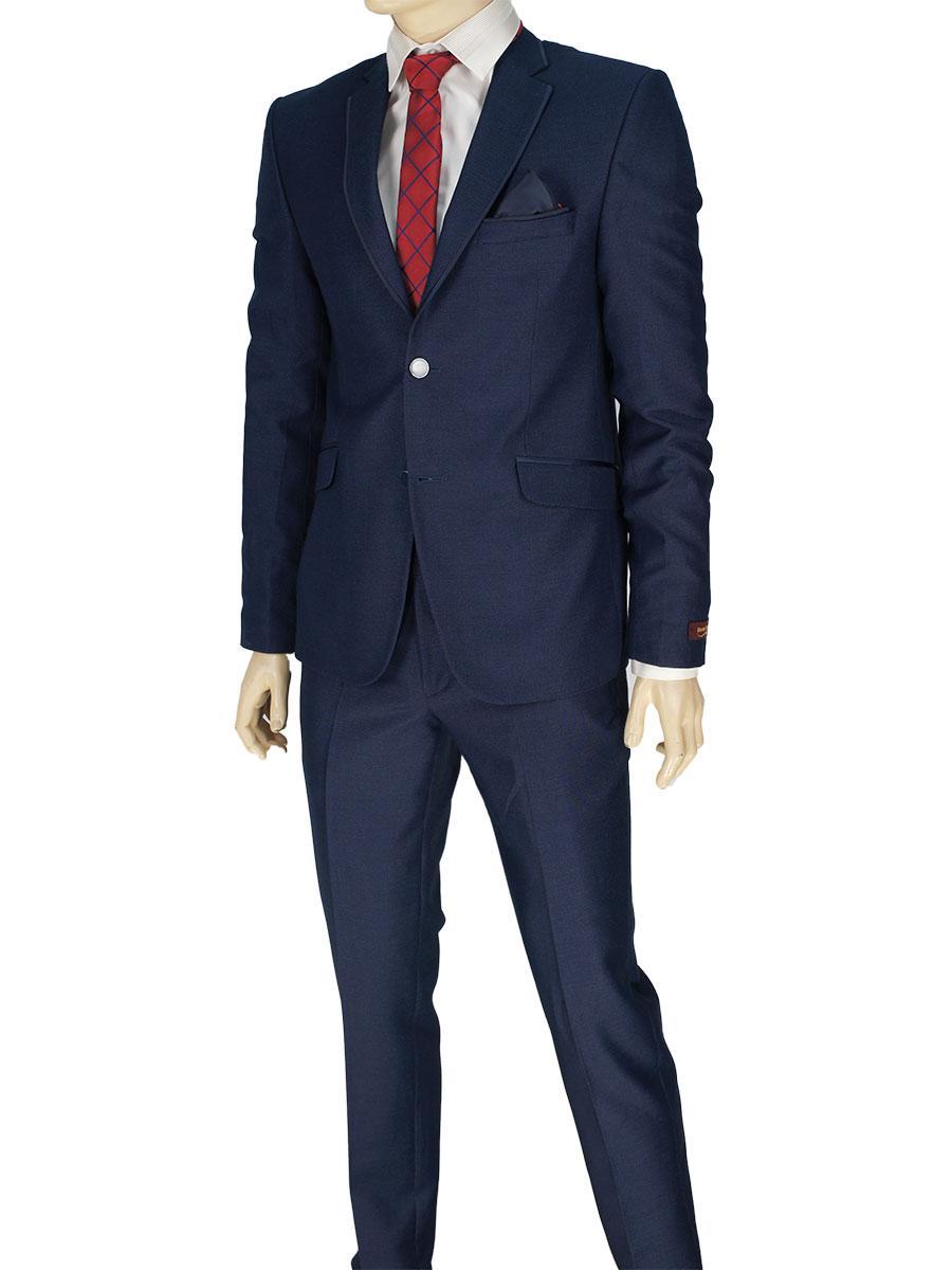 Турецкий мужской костюм Daniel Perry C.2 #7 синего цвета