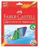 Цветные карандаши Faber-Castell 24 цвета + точилка трехгранные картонная коробка 120524