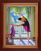 """Наборы для рисования камнями 5D (частичная выкладка на холсте) """"Балерина"""" LasKo 5D-074"""