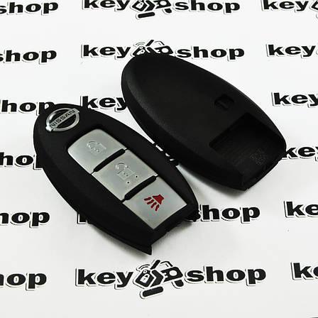Корпус смарт ключа для NISSAN (корпус) 2 ― кнопки + 1 кнопка (PANIK), (без лезвия), фото 2