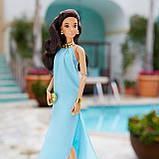 Коллекционная кукла Barbie Высокая мода Аквамариновое платье, фото 4