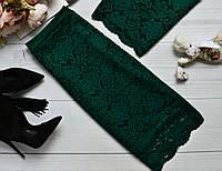 Красивая юбка из набивного гипюра с фистоном, цвета в ассортименте изумруд