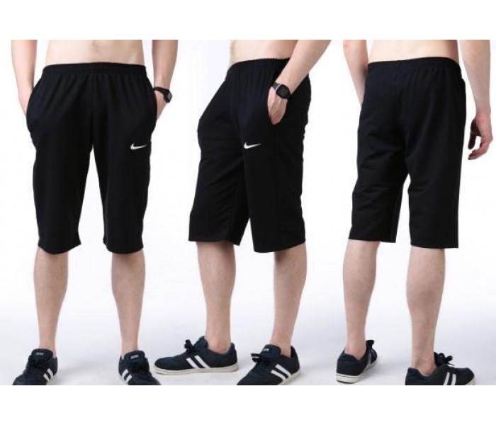 Бриджи мужские спортивные в стиле Найк (Nike) синие трикотажные (большие размеры)