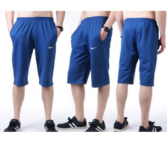 Бриджи мужские спортивные в стиле Найк (Nike) белые трикотажные (большие размеры)