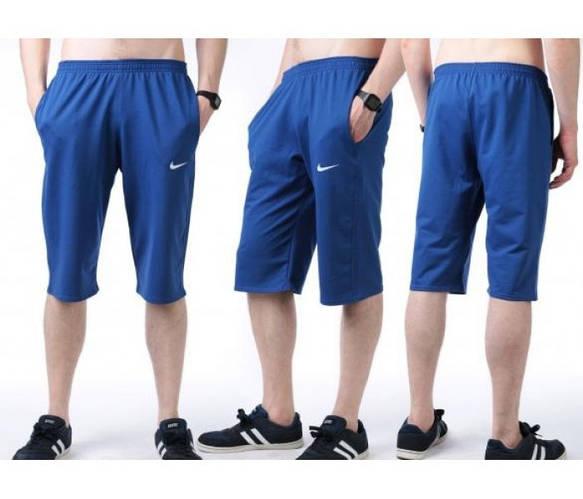 Бриджи мужские спортивные Найк (Nike) белые трикотажные (большие размеры)