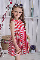 Платье детское Красная полоска