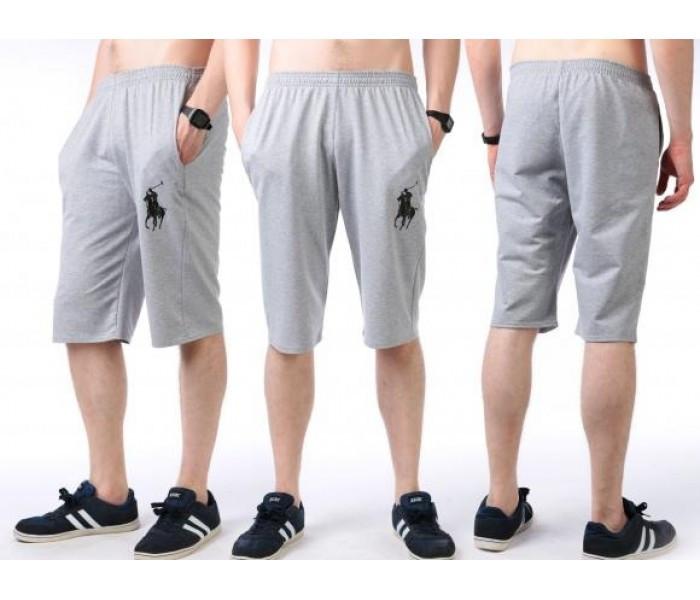 Бриджи мужские спортивные серые летние трикотажные (большие размеры)