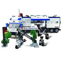 """Конструктор,игровой детский набор(аналог Лего) """"Передвижной полицейский участок """" 500 дет.  47х36х6см."""