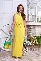 Льяное платье в пол 9 цветов с 44 по 50 размер