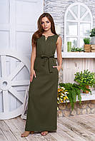 Льяное платье в пол 6 цветов