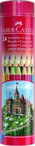 Цветные карандаши Faber-Castell 24 цветов металлический тубус 115827
