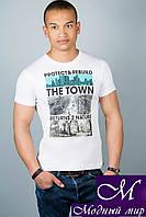 Мужская стильная футболка (р. 44-52) арт. 309
