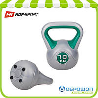 Гиря виниловая Hop-Sport 10 кг, фото 1
