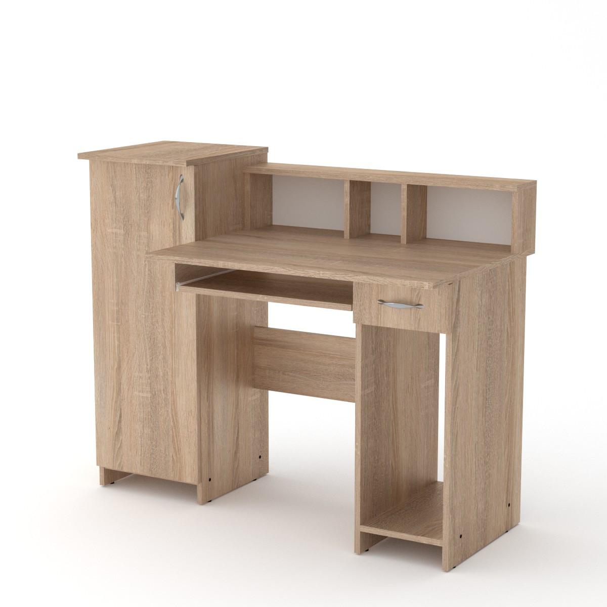 Стол компьютерный пи пи-2 дуб сонома Компанит (118х60х96 см)