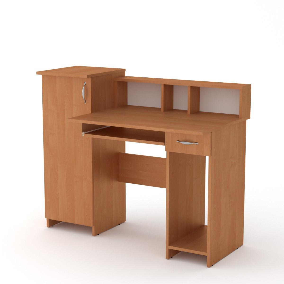 Стол компьютерный пи пи-2 ольха Компанит (118х60х96 см)