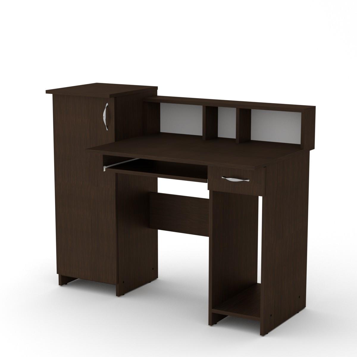 Стол компьютерный пи пи-2 венге темный Компанит (118х60х96 см)