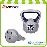 Гиря виниловая Hop-Sport 12 кг, фото 1