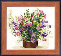 """Наборы для рисования камнями 5D (частичная выкладка на холсте) """"Цветы радуги"""" LasKo 5D-058"""