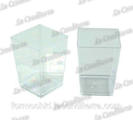 Пластиковый квадратный стакан Martellato PMOCU001 (60 мл)