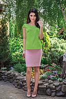 Блузка шелковая с коротким рукавом