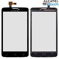 Touchscreen (сенсорный экран) для Alcatel One Touch 8000 Scribe Easy, черный, оригинал