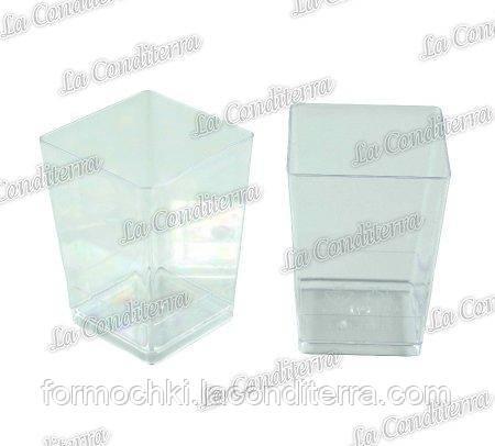 Пластиковый квадратный стакан Martellato PMOCU002 (120 мл)
