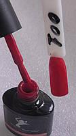 Гель-лак  P&T Professional 001. Красный с малиновым оттенком. 8мл