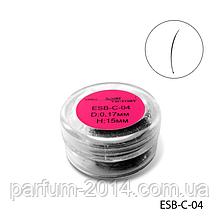Ресницы в банках ESB-C-04 (диаметр: 0,17 мм, длина: 15 мм),
