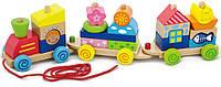 Конструктор игрушка-каталка Viga toys Паровозик (50089)
