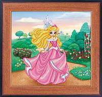 """Наборы для рисования камнями 5D (частичная выкладка на холсте) """"Принцесса"""" LasKo 5D-053"""