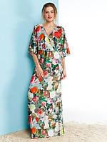Женское нарядное длинное платье с запахом Korinn (разные цвета)
