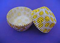Тарталетки (капсулы) бумажные для кексов, капкейков Смайлики