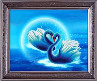 """Наборы для рисования камнями 5D (частичная выкладка на холсте) """"Ночь любви"""" LasKo 5D-051"""
