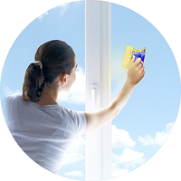 Магнитная щетка для мытья окон