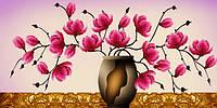 """Наборы для рисования камнями 5D (частичная выкладка на холсте) """"Розовая мечта"""" LasKo 5D-049"""