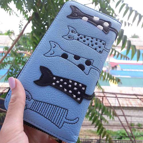 a5b00446e4fb Молодежный кошелек с котиком. Купить в интернет-магазине Mak-Shop -  494988194