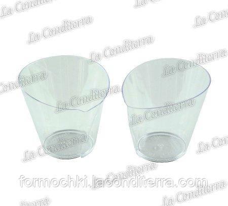 Пластиковый прозрачный стакан Martellato PMOCO013 «Waffle» (70 мл)