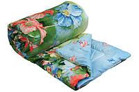 Одеяло шерстяное демисезонное Summer flowers Руно 140х205см