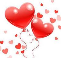Шарики воздушные  Сердца  ярко красные, 50 шт