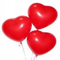 Шарики воздушные  Сердца  ярко красные,  50 шт, 44 см