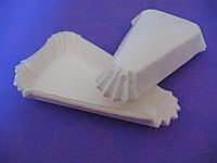 Тарталетки (капсулы) бумажные для десертов Белые (115*60*20 мм)