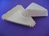 Тарталетки (капсулы) бумажные для десертов Белые (102*78*25 мм)
