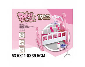 Кроватка-колыбелька для куклы с мобилем, фото 2