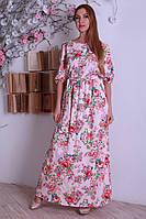 Нежное принтованое платье