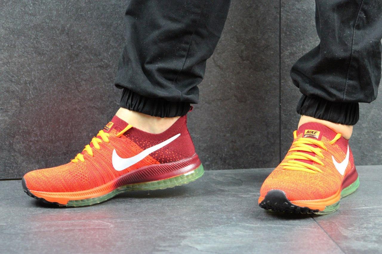 dc88b5cc Мужские кроссовки Nike Zoom All Out, оранжевые с бордовым (Реплика) -  Интернет-