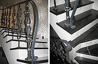 Поручень стальной кованный с чеканкой под покраску GRANDE FORGE (Франция)