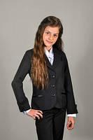 Школьный пиджак для девочки Манжет,цвета синий,чёрный,рост 122-152,S964